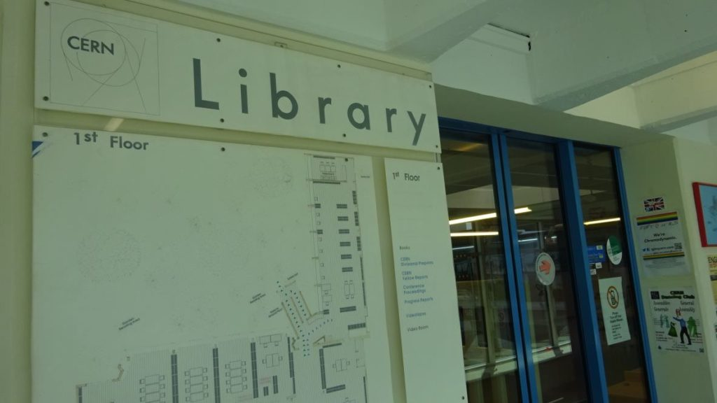 visiting CERN library 1